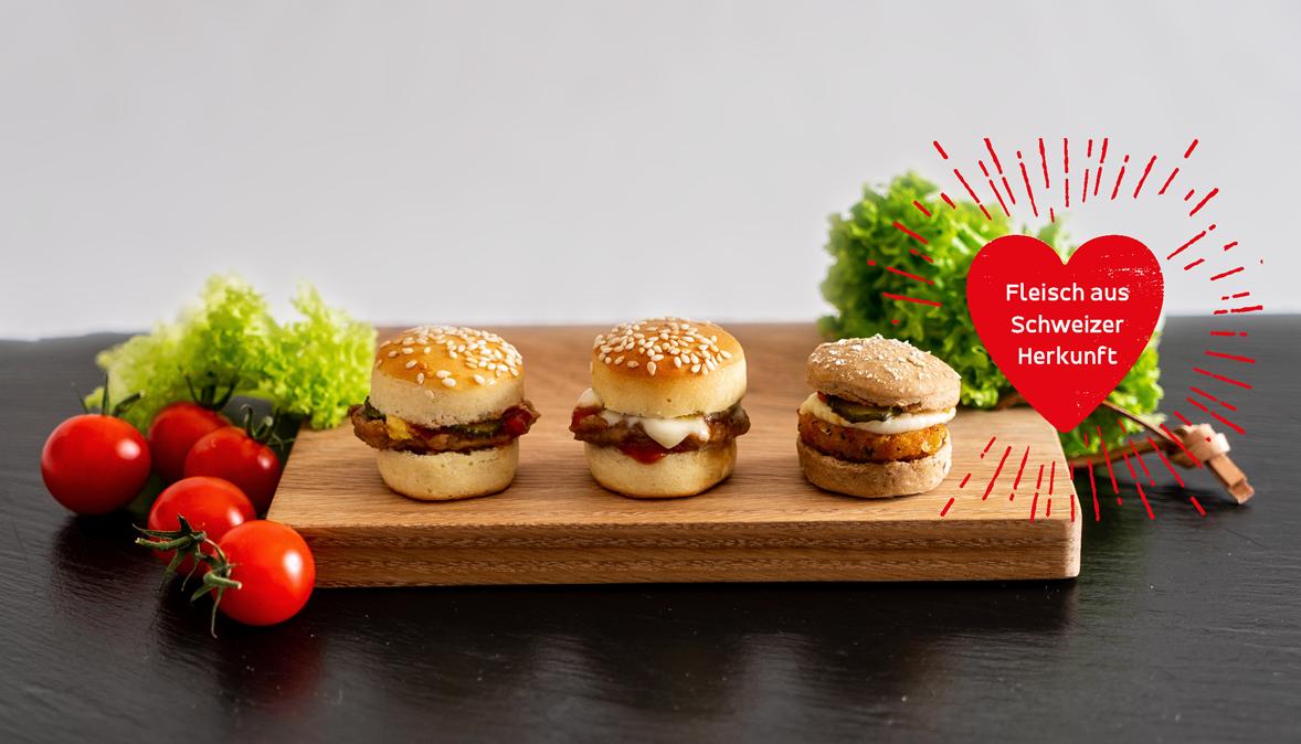 Mini Burger Cheese mit Schweizer Fleisch